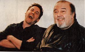 Sir Peter Hall and Dominic Dromgoole