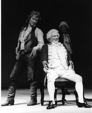 Alan with Norman Rodway in 'Wild Oats'