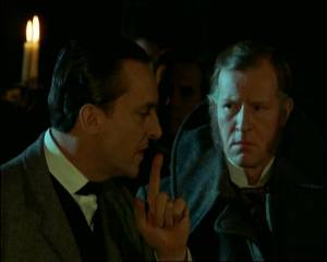 Jeremy Brett and Alan Howard